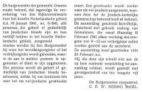 joodsommen  Bekendmaking verordening 6-1941 persoonregistratie (gedeeltelijk) Joodse bloede