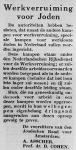 joodsommen  Werkverruiming voor Joden - Het Joodsche Weekblad 09-01-1942